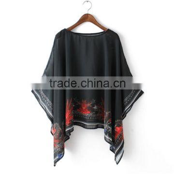 Wholesale Polyester Chiffon Beach Cape Dubai Style Kaftan                                                                         Quality Choice