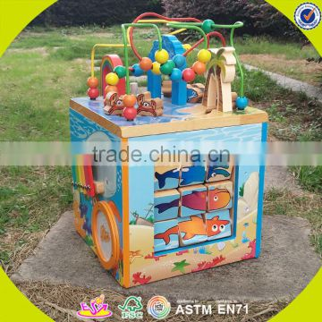 2017 wholesale wooden baby bead maze educational wooden baby bead maze multi-function wooden baby bead maze W12D033