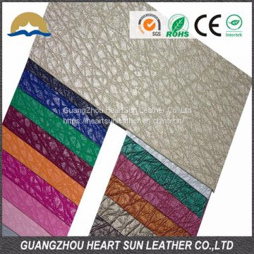 factory driect sell heart sun pvc rexine leather fabric made in china