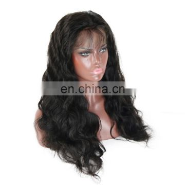 Raw unprocessed hair lace front wig in body wave 9A grade Indian human virgin hair wholesale price