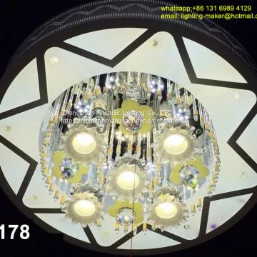factory Chandelier, LED lighting ,ceiling crystal lamp with different light color