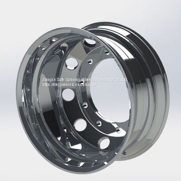 Diegowheels 22.5*9.0 Casting Flow Forming Aluminum Alloy Wheels