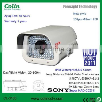 Manual Zoom Lens for Long distance waterproof original Vedio SONY CCD Camera CL-3100