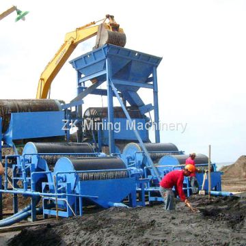 Drum Magnetic Separator for Mineral Coal Iron Gold Silica Sand