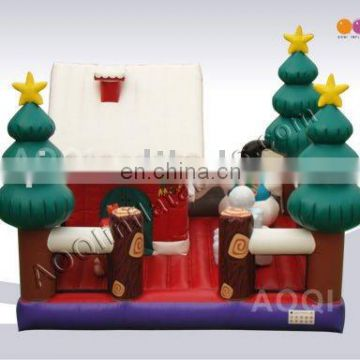 AOQI holiday inflatable amusement park beautifule Christmas house for sale made in China