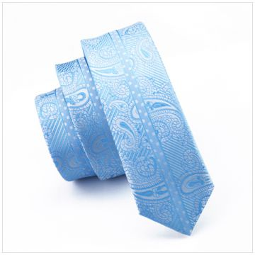 Self-fabric Striped Silk Woven Neckties Knit Gray