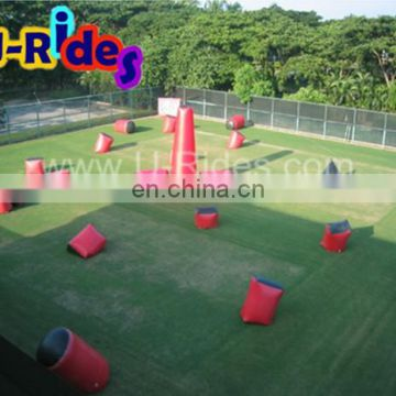 Huge Durable Colorful Inflatable Paintball Arena For Shooting Games