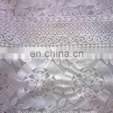 nylon net embroidery lace fabric
