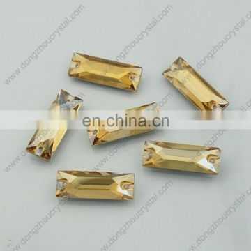 Wholesale Cosmic Baguette Sew on Rhinestone for Garment Accessories
