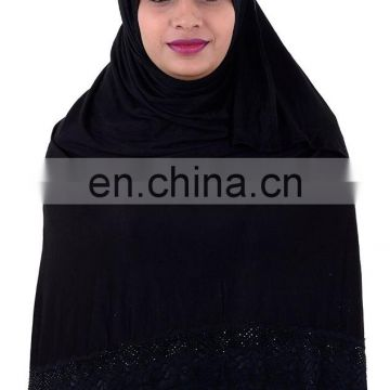 Women's Hosiery Cotton Net Diamond Stone Work Hijab Scarf (scarves scarf stoles hijab)