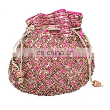 Indian Traditional Ethnic Party Hand Potli Bag Wedding Potli Evening Bag Drawstring gift jewelry pouches/pouch festival handmade