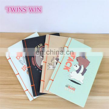 Belgium 2018 fashion paper stationery promotional custom personalized notebook diary printing