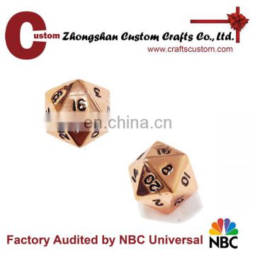 Custom 12mm 20sides metal engrave giant dice