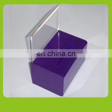 pmma plexiglass cheap standing donation boxes acrylic plain money saving safe box