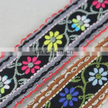Latest Collection custom braided trim with embroidery flowers webbing for wholesale products