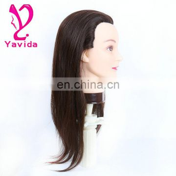 Special 100% human hair training head for hairdressing school