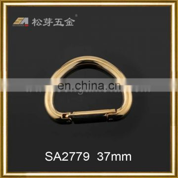 Strong elastic gold and silver D ring bag buckle