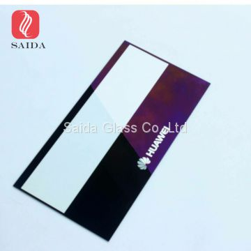 5mm thick colors silk screen printed tempered glass front cover for Large LCD advertising signage players