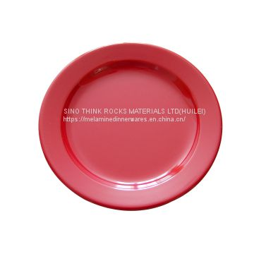 solid color melamine dinner plate