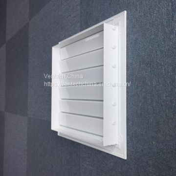 aluminum gravity operated louvers manufacturer