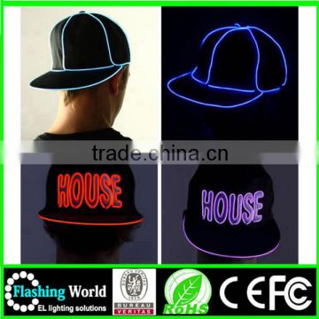 numerous in variety High brightness custom electroluminescent (el) wire hat