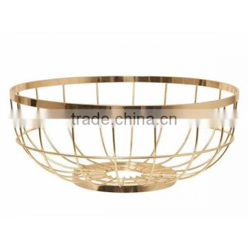 gold plated round bowl