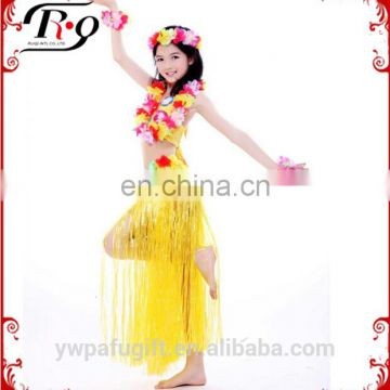 yellow hawaiian skirt set