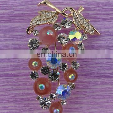 100%QC Bailange wholesale plating rhinestone hot sale pearl brooch for evening dress