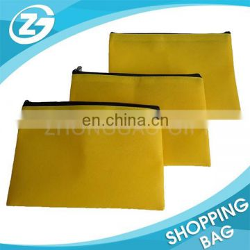 Fashional Recycled Customized zipper Top Non Woven Pouch