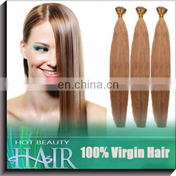 Courteous service pre braided hair i tip hair extensions wholesale Brazilian design the color you want