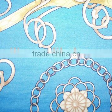 Spun silk fabric