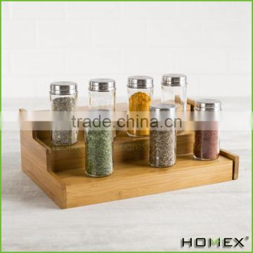 Hot sale spice rack storage in bamboo Homex-BSCI