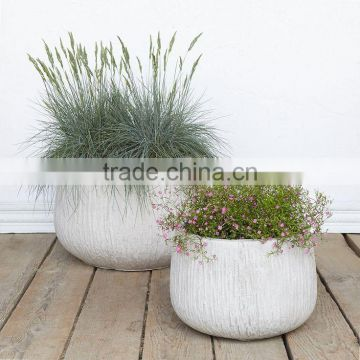 Fiberstone durable planter, garden outdoor polystone pots
