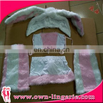 2017 new item pink bunny dress sexy adult animal movie costume halloween costume