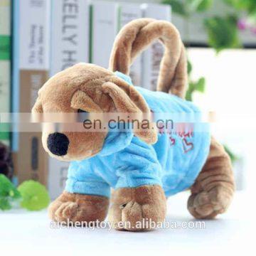 new products cute plush animal pencil case child gifts dog pencil case