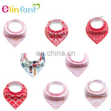 Elinfant high quality 100% organic cotton baby bibs drool bandana bibs