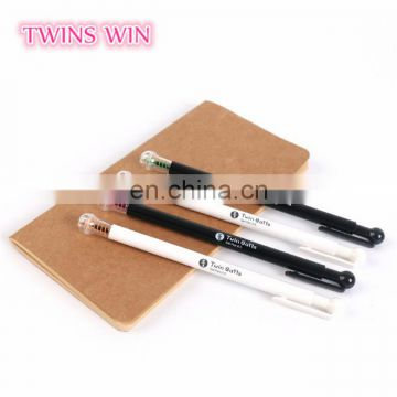 Top sale office supply cute stationery korea Novelty promotional personalised eco-friendly plastic gel-ink pens free samples