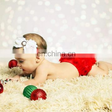 3 PCS Christmas Decoration Baby Child Chiffon Flower Headband Felt craft, Christmas decoration, felt ornaments christmas