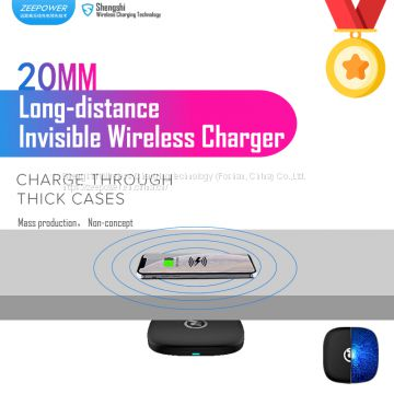 ZeePower 20mm Invisible Wireless Charger, Long distance Fast Wireless Charger OEM ODM Wholesale