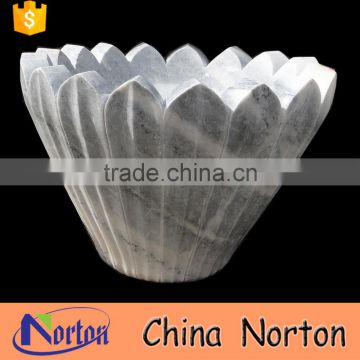 Garden indoor carved granite flower pot for sale NTMF-FP012Y