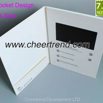 Powerful marketing tool a4 size 7 lcd oem video brochure with powerful marketing tool a4 size 7 lcd oem video brochure with pocket design for colourmoves
