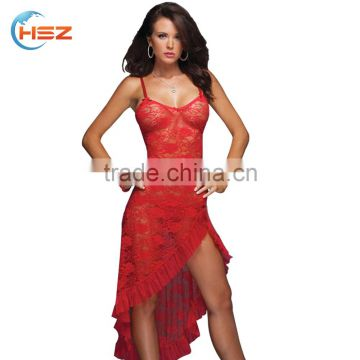 HSZ-7112 Condole belt without long dress beautiful girls in rose flower preteen lingerie sexy pictures of lace sexy underwear