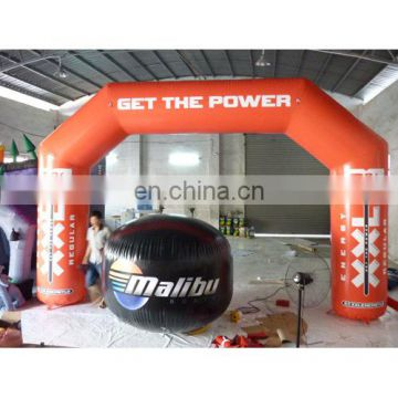 2014 new style orange color inflatable air arch, inflatable advertising arch,