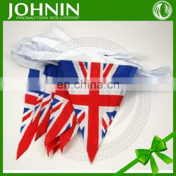 75D polyester custom bunting outdoor triangle flags for promotion