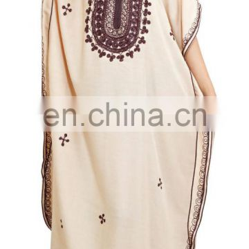 Moroccan Caftan Women Arabian Beach Summer Long Dress Muslim Abaya Cotton dress