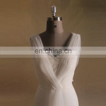 Graceful Heart Neckline Mermaid Lace Tulle Wedding Dress Chapel Train