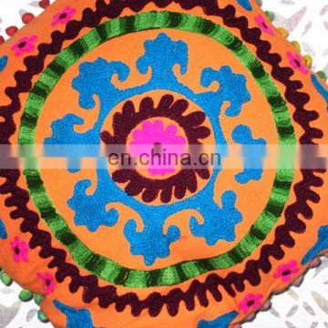 Online wholesale shop_Suzani hand embroidery cushion cover_Indian home decor pillow cases online sell wholesale