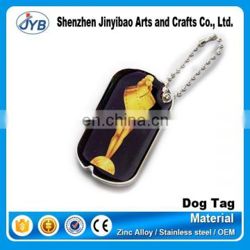 personalized cheap custom printed sexy girl dog tag