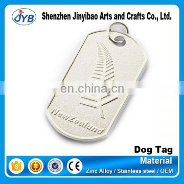 new zealand matt dog tag with leaf engraved