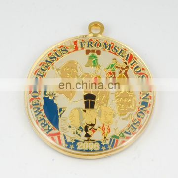 Custom ANTIQUE Plating COOPER 2D 3D Zinc Alloy Enamel Coin Medal